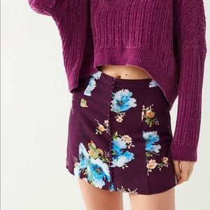 Urban Outfitters Royce Covered Button Mini Skirt 8